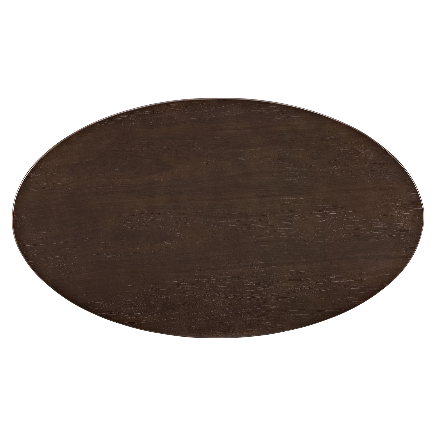 "Lippa 48"" Oval Coffee Table - Walnut - EEI-2020-WAL"