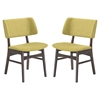 Vestige Fabric Dining Side Chair - Wood Frame (Set of 2) - EEI-2024-WAL-SET