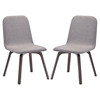 Assert Upholstery Dining Side Chair - Walnut, Gray (Set of 2) - EEI-2026-WAL-GRY-SET