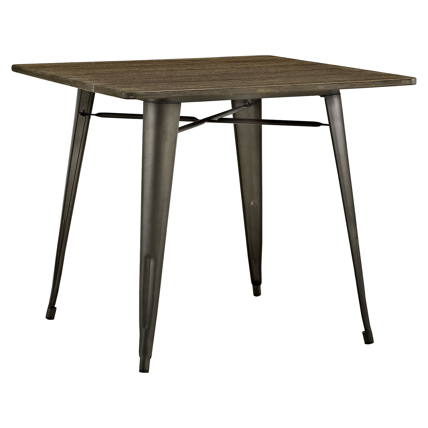 "Alacrity 36"" Square Wood Dining Table - Brown - EEI-2036-BRN"