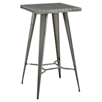 Direct Metal Bar Table - Gunmetal