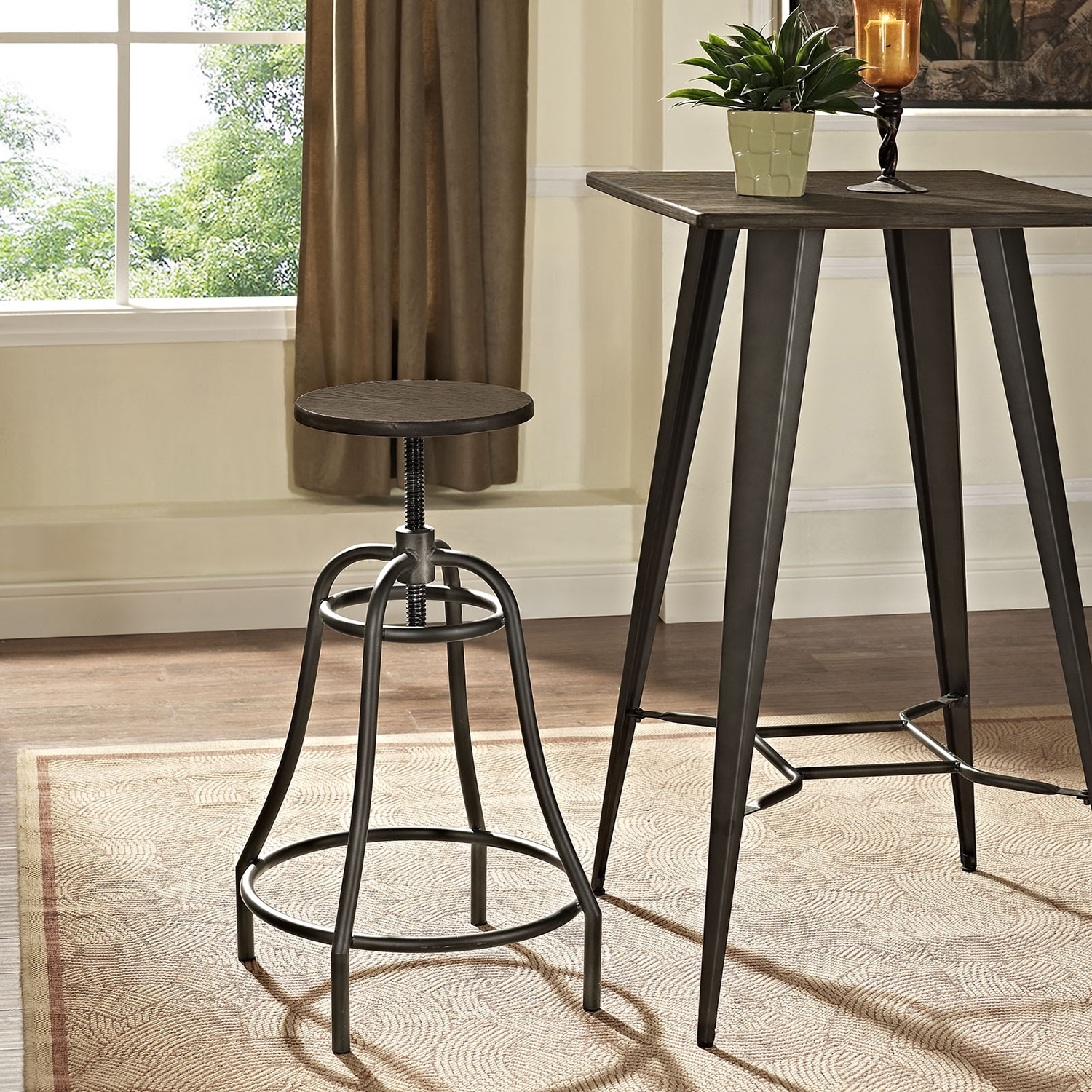 Toll Metal Bar Stool - Brown - EEI-2042-BRN