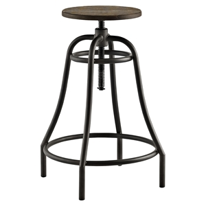 Toll Metal Bar Stool - Brown