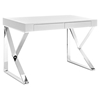 Adjacent Rectangular Wood Top Office Desk - White - EEI-2047-WHI-SET