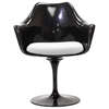 Lippa Saarinen Inspired Black Armchair - EEI-205