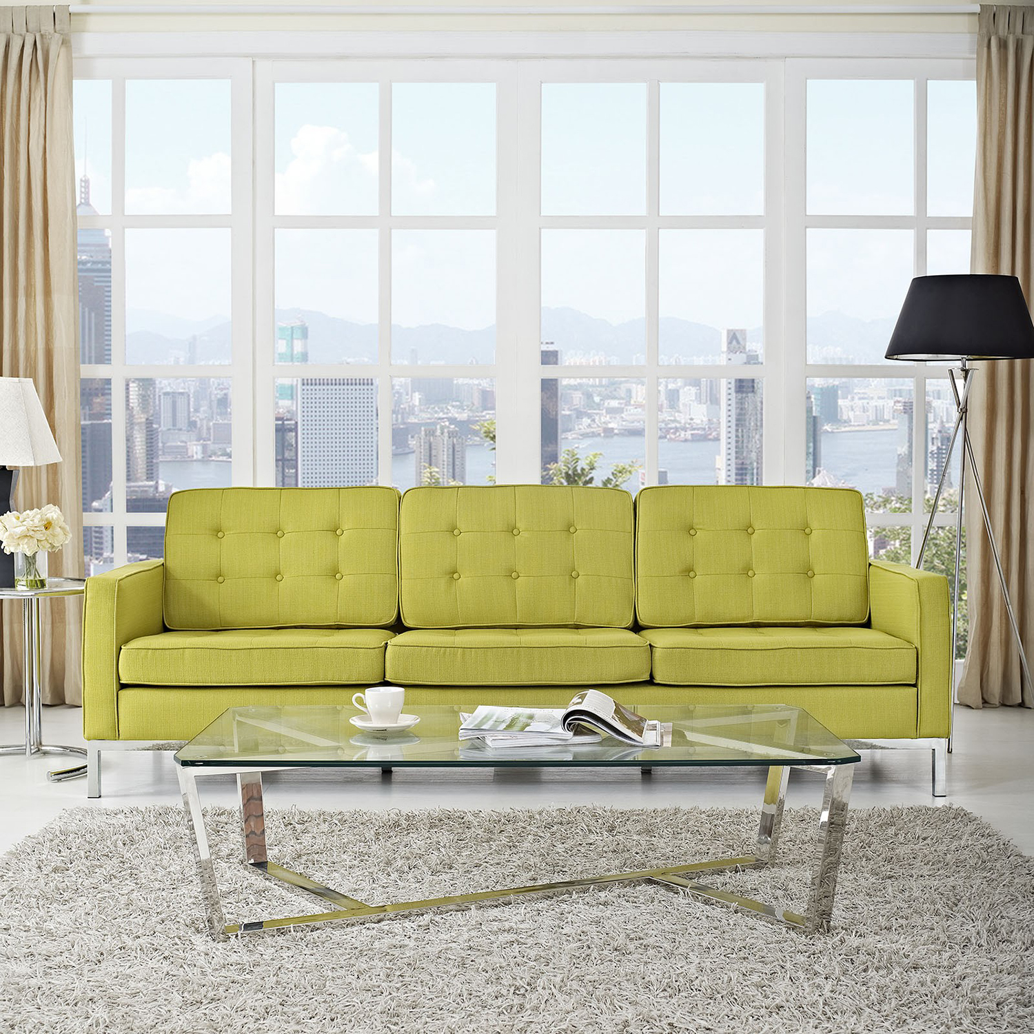 Loft Fabric Sofa - Tufted - EEI-2052