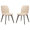 Proclaim Upholstery Dining Side Chair - Walnut, Beige (Set of 2) - EEI-2059-WAL-BEI-SET