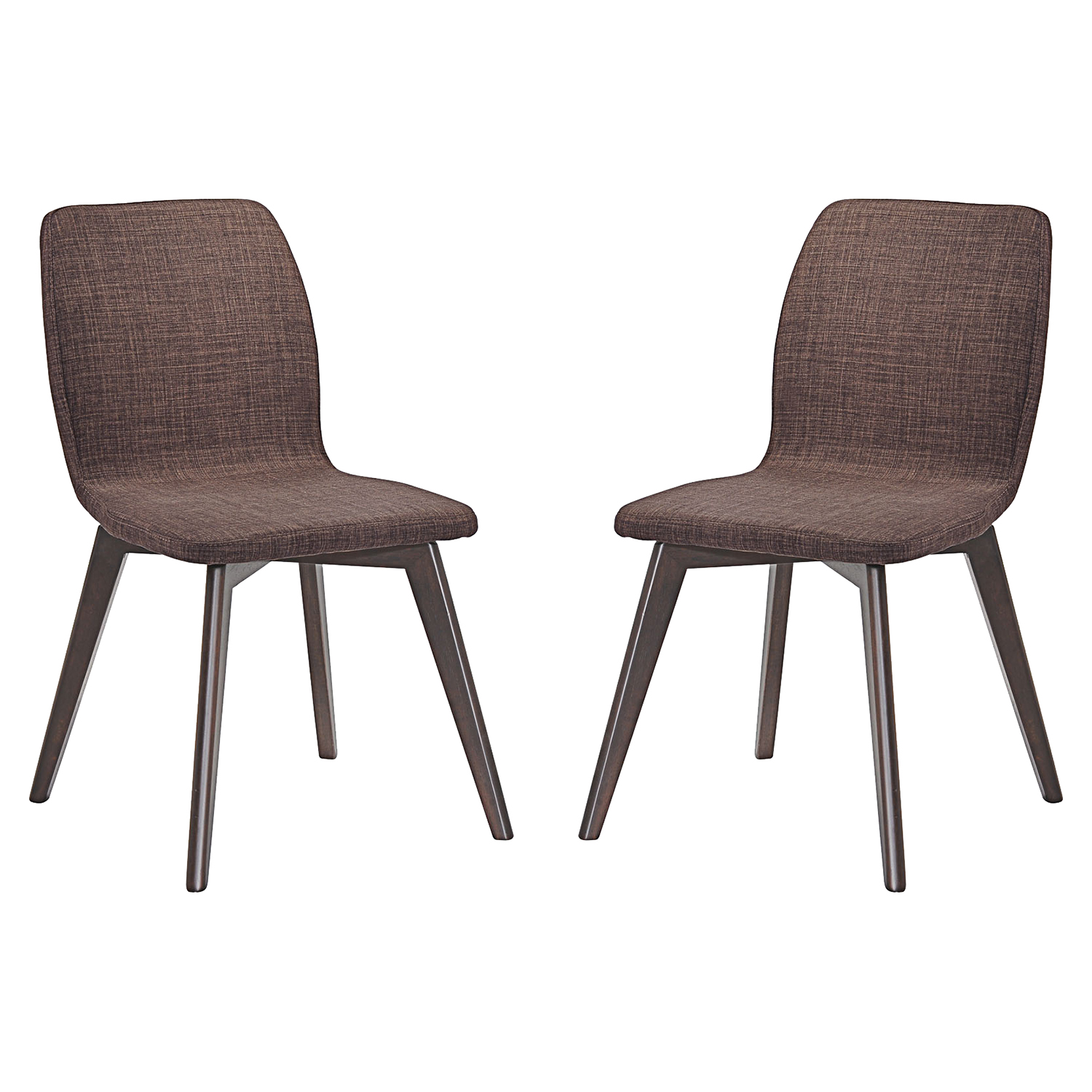 Proclaim Upholstery Dining Side Chair - Walnut, Mocha (Set of 2) - EEI-2059-WAL-MOC-SET