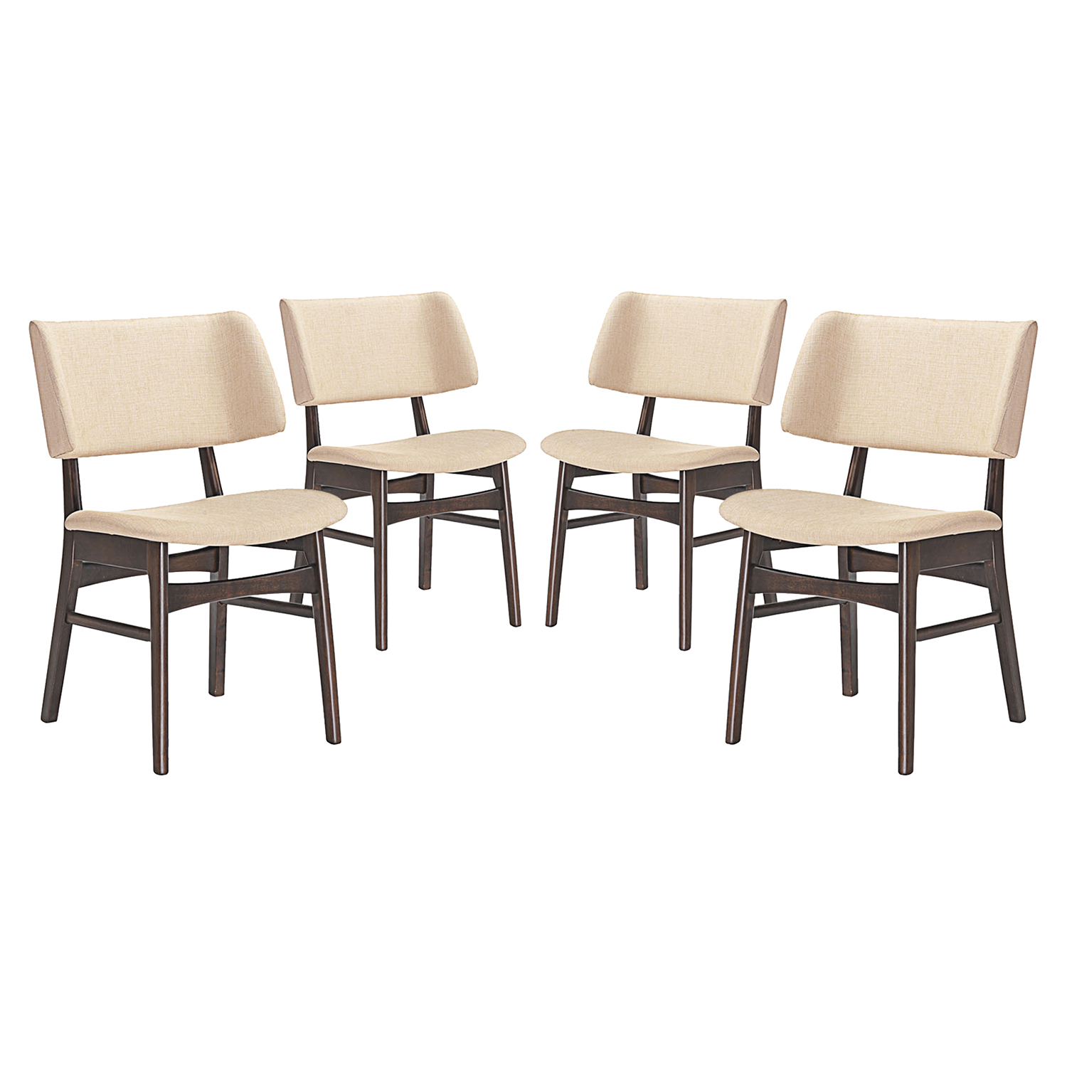 Vestige Upholstery Dining Side Chair - Wood Frame (Set of 4) - EEI-2062-WAL-SET