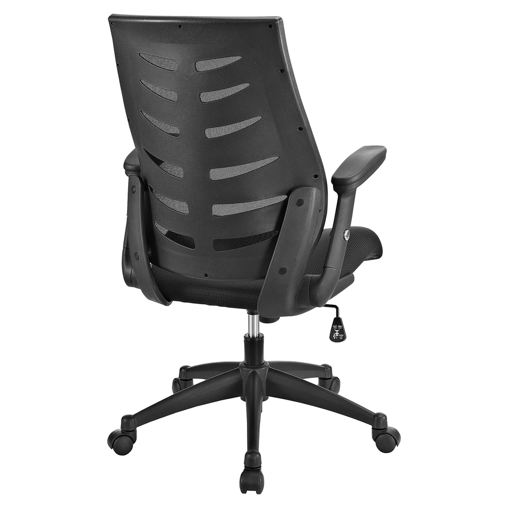 Force Mesh Office Chair Adjustable Height Swivel Black