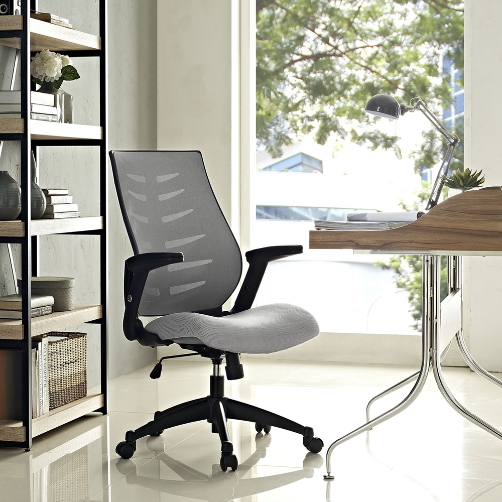 Force Mesh Office Chair Adjustable Height Swivel Gray