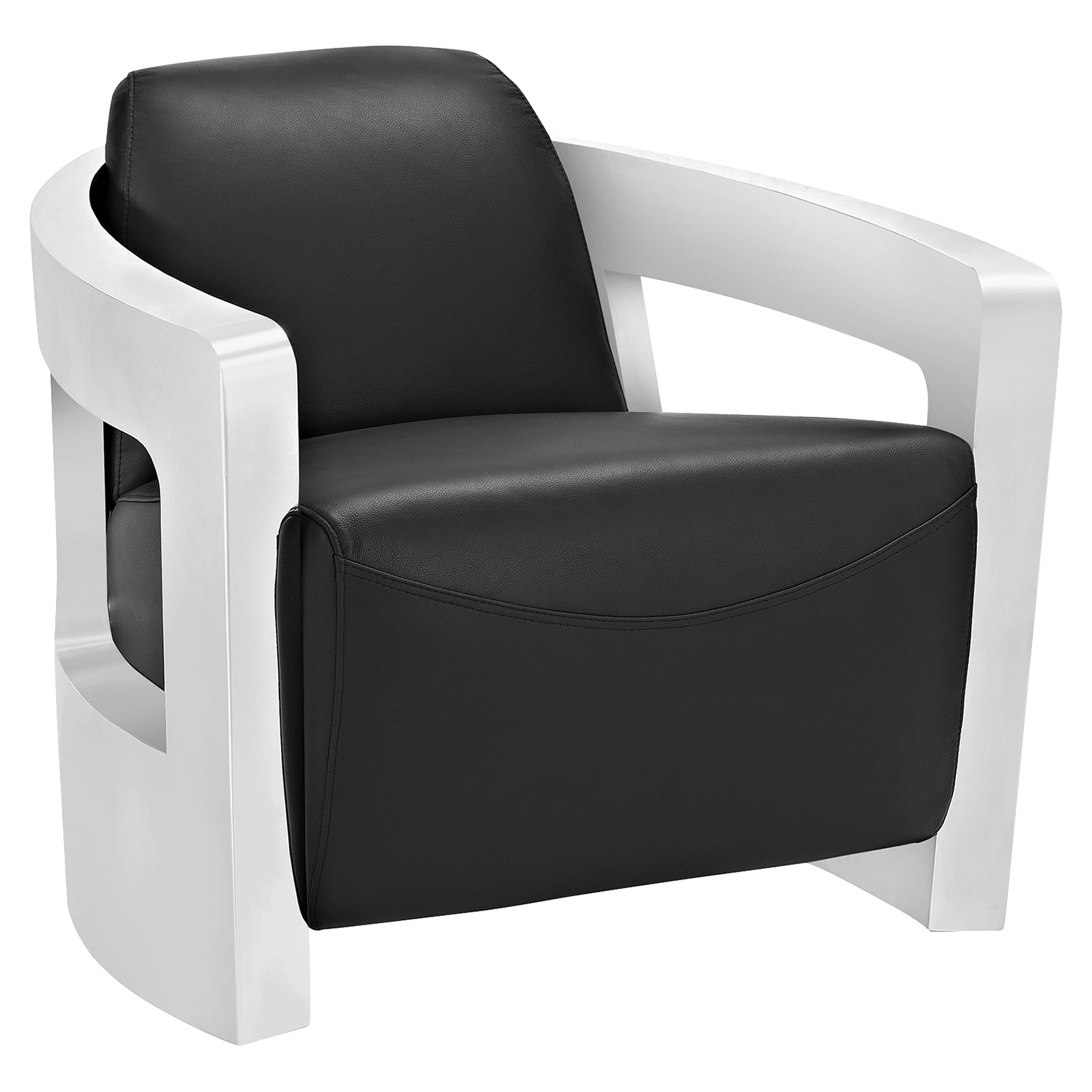 Trip Leather Lounge Chair - Black - EEI-2069-BLK