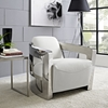 Trip Leather Lounge Chair - White - EEI-2069-WHI