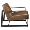 Seg Bonded Leather Accent Chair - Brown - EEI-2075-BRN
