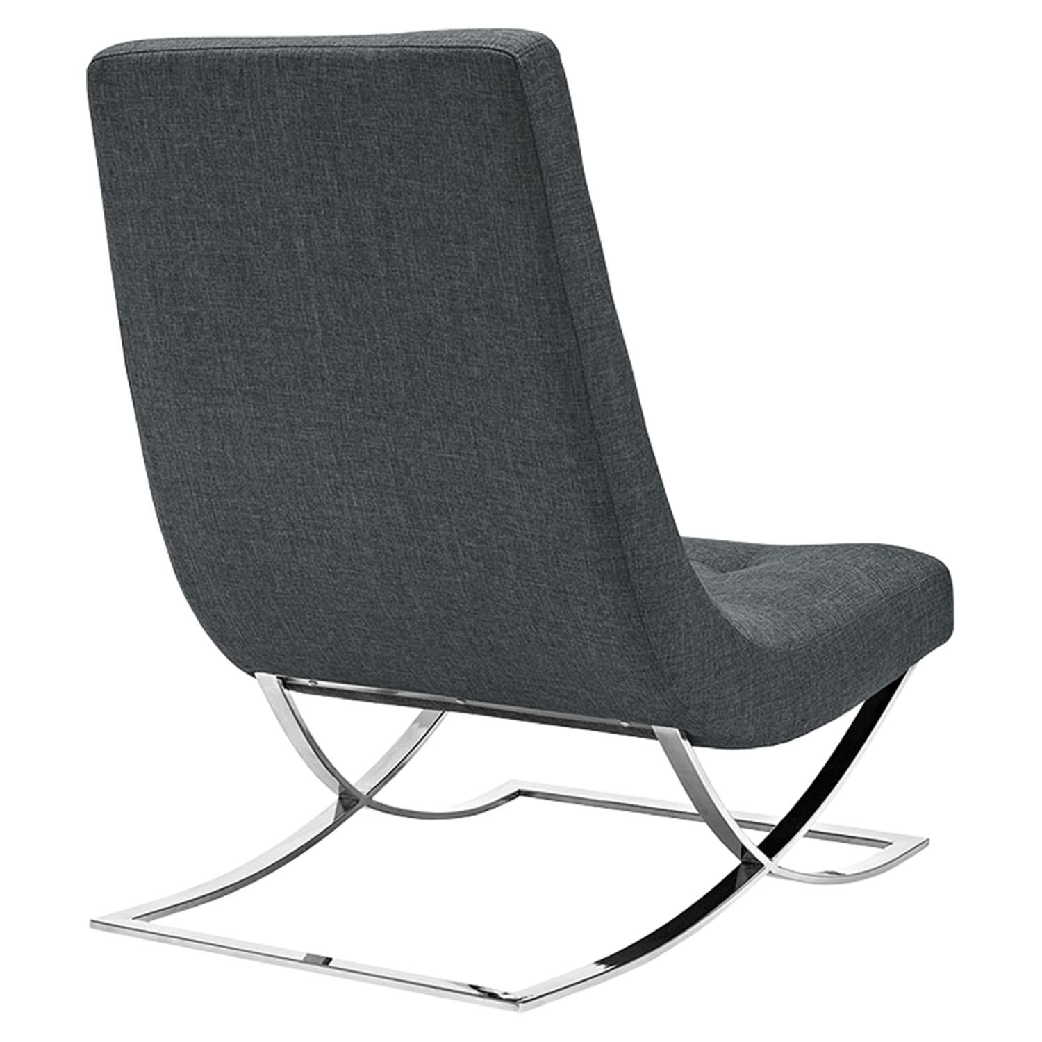 Slope Fabric Lounge Chair - Gray - EEI-2077-GRY