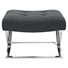 Slope Fabric Ottoman - Gray - EEI-2079-GRY