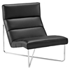 Reach Leatherette Lounge Chair - Black - EEI-2080-BLK