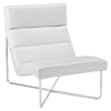 Reach Leatherette Lounge Chair - White - EEI-2080-WHI