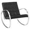 Gravitas Leatherette Lounge Chair - Black - EEI-2084-BLK