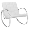 Gravitas Leatherette Lounge Chair - White - EEI-2084-WHI