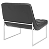 Ibiza Memory Foam Lounge Chair - Button Tufted, Leatherette, Black - EEI-2089-BLK