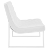 Ibiza Memory Foam Lounge Chair - Button Tufted, Leatherette, White - EEI-2089-WHI