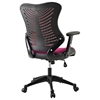 Clutch Office Chair - Adjustable Height, Casters, Burgundy - EEI-209-BUR