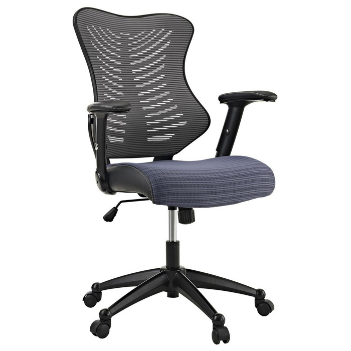 Clutch Office Chair - Adjustable Height, Casters, Gray - EEI-209-GRY