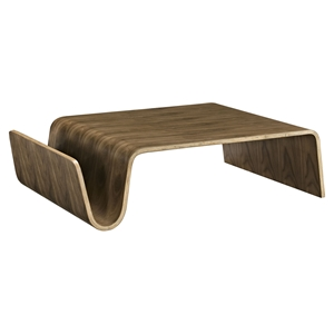 Polaris Wood Coffee Table - Walnut, Magazine Racks