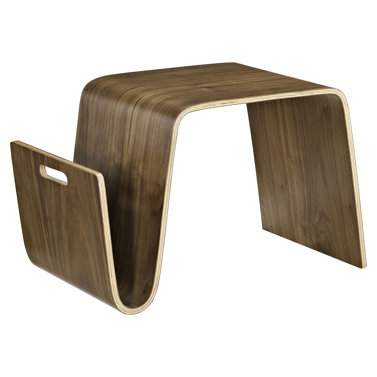 Polaris Wood Coffee Table - Magazine Racks, Walnut - EEI-2092-WAL