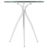 Moxy Side Table - Glass Top, Clear - EEI-2093-CLR