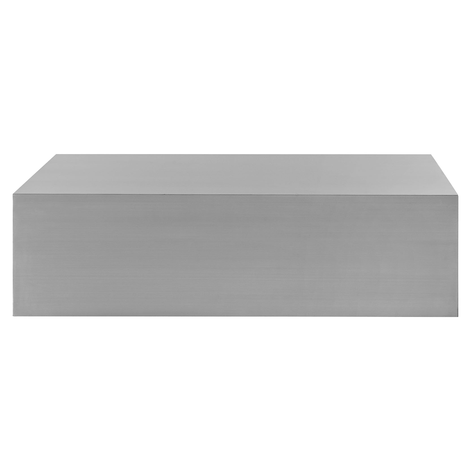 Cast Stainless Steel Coffee Table - EEI-2098-SLV
