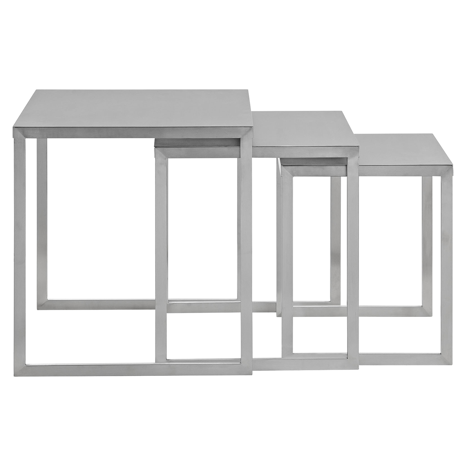 Rail Stainless Steel Nesting Table Dcg Stores