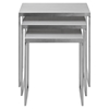 Rail Stainless Steel Nesting Table - EEI-2099-SLV