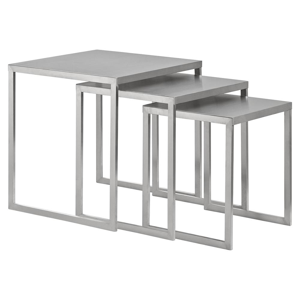 Rail Stainless Steel Nesting Table