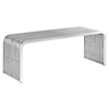 "Pipe 46.5"" Stainless Steel Bench - EEI-2102-SLV"