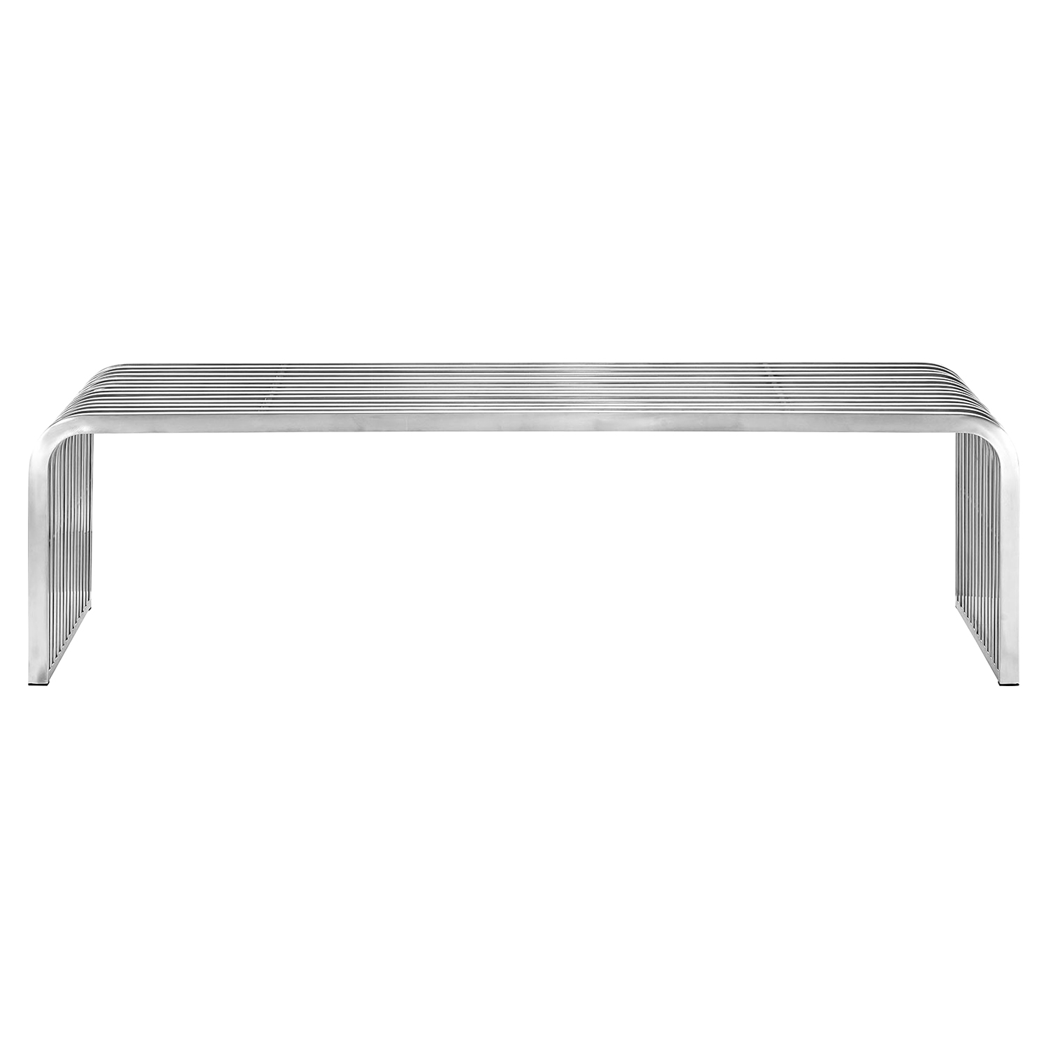 "Pipe 60"" Stainless Steel Bench - EEI-2103-SLV"
