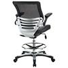 edge drafting chair mesh back chrome foot ring black dcg stores