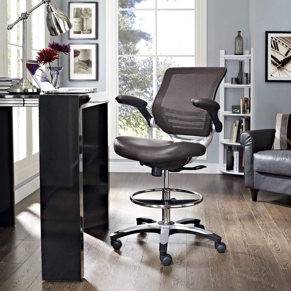 Edge Office Chair Adjustable Height Swivel Brown Dcg