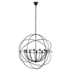"Atom 39.5"" Brown Chandelier - EEI-2111-BRN"