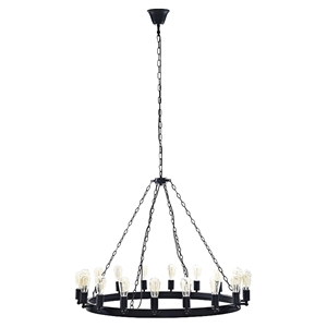 "Teleport 43"" Chandelier - Brown"