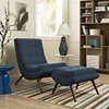 Ramp Fabric Lounge Chair Set - Tufted, Azure - EEI-2143-AZU