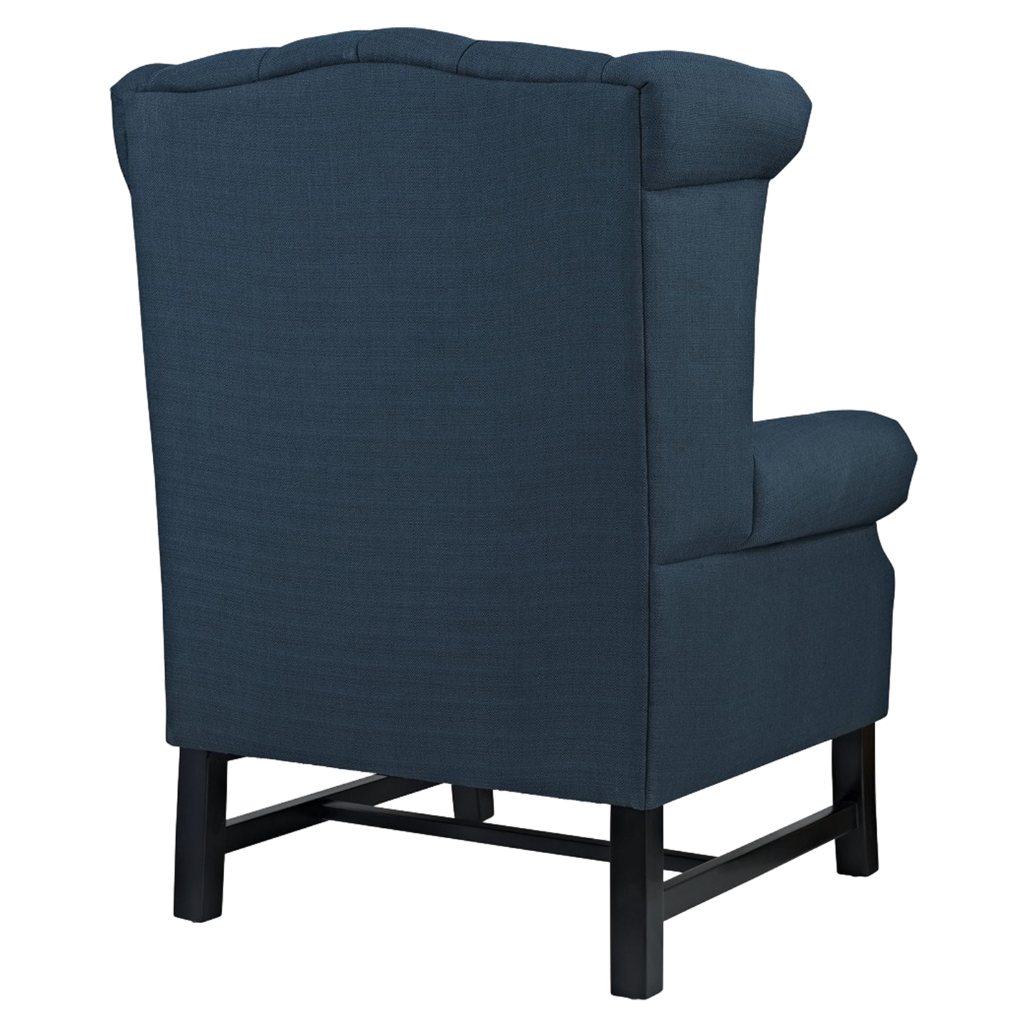 Steer Nailhead Fabric Armchair - Button Tufted, Azure - EEI-2150-AZU