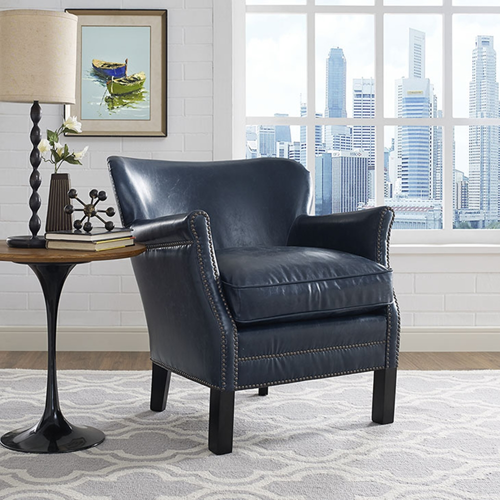 Key Faux Leather Armchair Dcg Stores