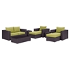 Convene 8 Pieces Outdoor Patio Sofa Set - EEI-2159-EXP-SET