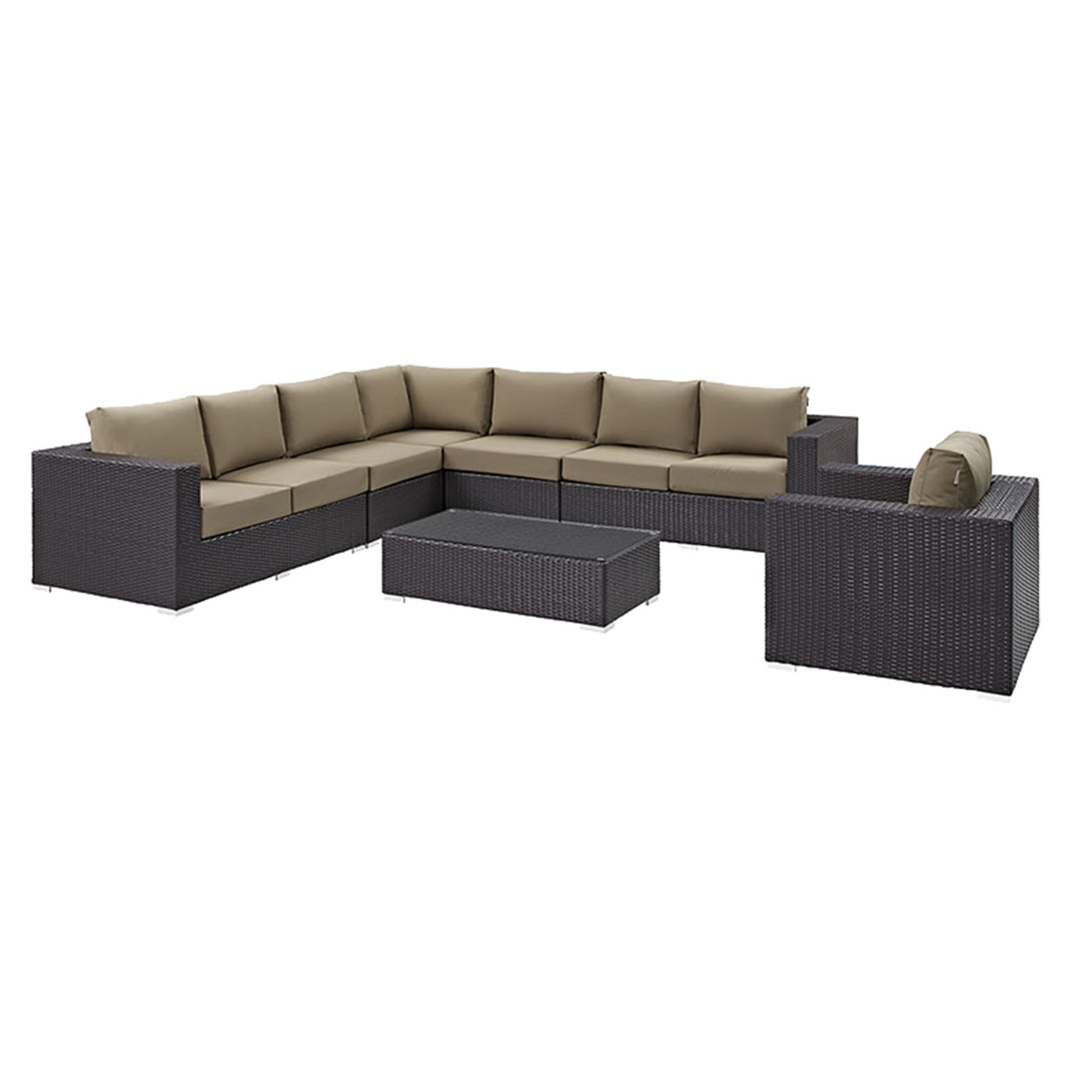 Convene 7 Pieces Patio Sectional Set - EEI-2162-EXP-SET