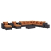 Convene 11 Pieces Outdoor Patio Sectional Set - EEI-2166-EXP-SET