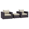 Convene 3 Pieces Outdoor Patio Chair Set - EEI-2174-EXP-SET