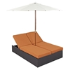 Convene Double Outdoor Patio Chaise - EEI-2180-EXP-SET