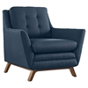 Beguile Fabric Chairs - Button Tufted, Azure - EEI-2185-AZU-SET